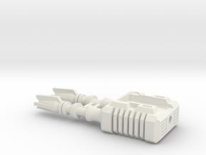 TF CW Dead End Car Cannon Seige Compatible in White Natural Versatile Plastic