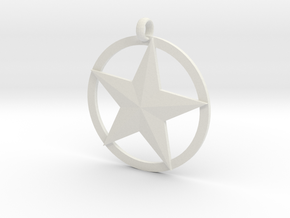 Star charm in White Natural Versatile Plastic
