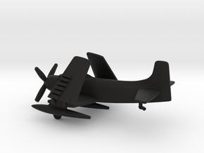 Douglas A-1H Skyraider (folded wings) in Black Natural Versatile Plastic: 1:200
