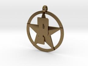 PHS charm - Plains Star in Natural Bronze