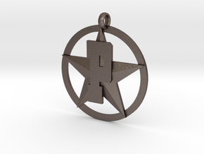 PHS charm - Plains Star in Polished Bronzed Silver Steel