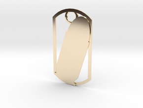 45 Auto (ACP) dog tag in 14K Yellow Gold