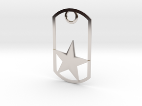 Star dog tag in Platinum