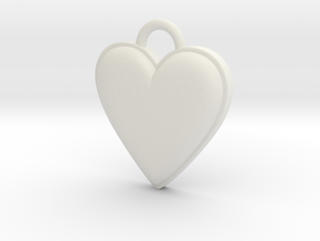 Cosplay Charm - BOP Heart (variant 1) in White Natural Versatile Plastic
