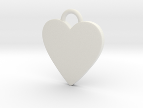 Cosplay Charm - BOP Heart (variant 2) in White Natural Versatile Plastic