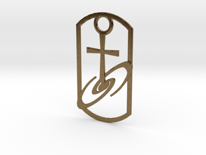 Dogtag-cross-galaxy2 in Natural Bronze