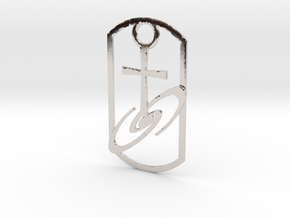 Dogtag-cross-galaxy2 in Platinum