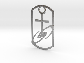 Dogtag-cross-galaxy2 in Natural Silver