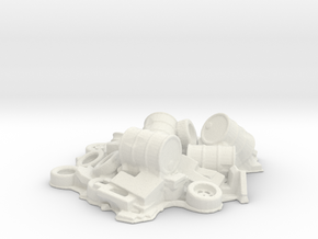 Scrap Junk Pile 1/48 in White Natural Versatile Plastic