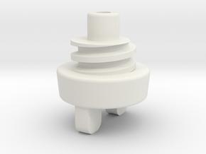 cap attachement in White Natural Versatile Plastic