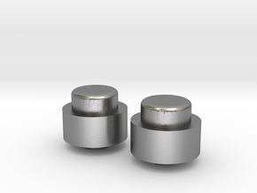 Adjustment Buttons - Metal in Natural Silver