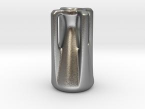 Modern Miniature 1:24 Vase  in Natural Silver: 1:24