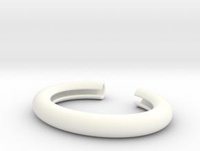 Straw Holder Bracelet in White Processed Versatile Plastic