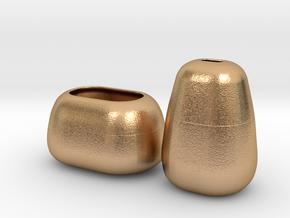 Modern Miniature 1:12 Vase Set in Natural Bronze: 1:12