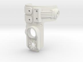 Lightsaber 12mm Switch Mount & Power Jack in White Natural Versatile Plastic