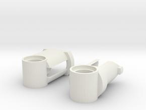 Short Lego-Compatible Shock Absorber in White Natural Versatile Plastic