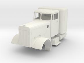 Peterbilt 351 scale 1:72 in White Natural Versatile Plastic