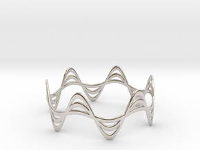 Triple Wave Bracelet (67mm) in Platinum