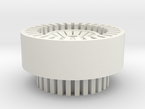 Finned Thick Walled Blade Plug in White Natural Versatile Plastic