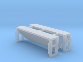 Folded Bed Lift Gate UP Position 1-87 HO Scale in Smooth Fine Detail Plastic