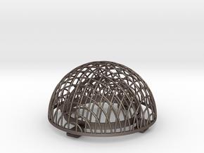 Feuerjonglierball 1.Hälfte in Stainless Steel