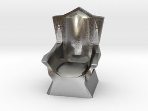 Miniature Throne in Natural Silver