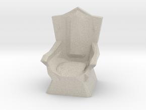 Miniature Throne in Natural Sandstone