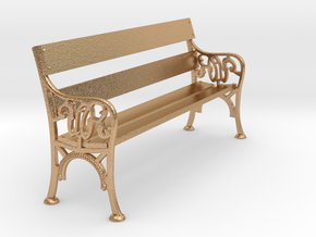 Victorian Railways Bench Seat 1:18 Scale in Natural Bronze