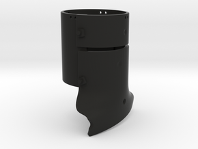 Ned Kelly Outlaw Helmet 1:18 Scale in Black Natural Versatile Plastic