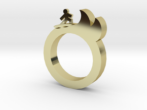 A1_9 in 18k Gold Plated Brass: 10.25 / 62.125