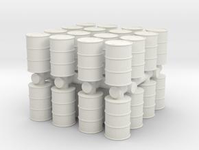 Oil Barrel (x32) 1/100 in White Natural Versatile Plastic