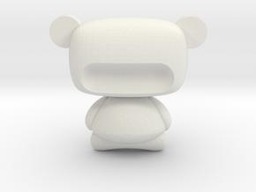 Modern Miniature 1:12 Dollhouse Sculpture in White Natural Versatile Plastic: 1:12