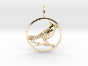 Cardinal Bird in 14K Yellow Gold