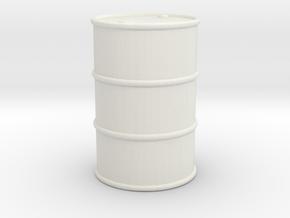 Oil Barrel 1/35 in White Natural Versatile Plastic