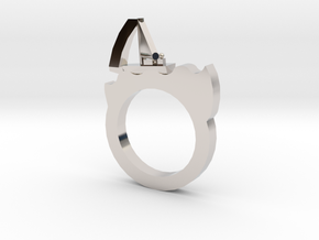 A2_3 in Rhodium Plated Brass: 10.25 / 62.125