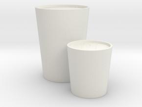 Decorative Candles Set in White Natural Versatile Plastic