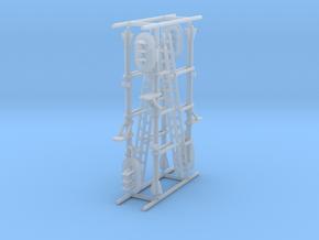 N NS hoog lichtsein RECHTS zonder P, 4 stuks in Smooth Fine Detail Plastic