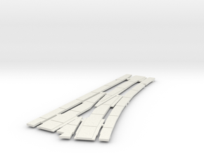 Left peco 2 cover guard revised in White Natural Versatile Plastic