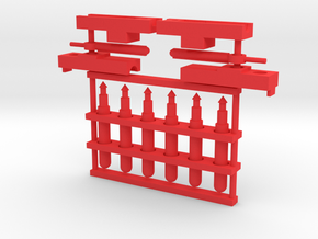 Power Warrior Missile Launchers in Red Processed Versatile Plastic: Large