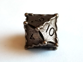 D10 Balanced - Snakes (Steel) in Polished Bronze Steel