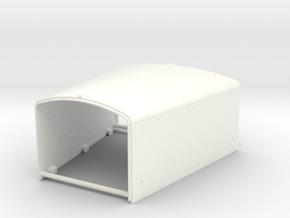 THM 80.703000 Bonnet Peterbilt 281 in White Processed Versatile Plastic