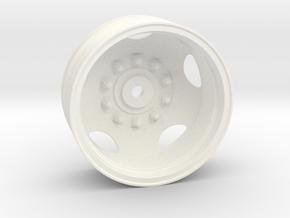 THM 80.302088 Rear rim Peterbilt 281 in White Processed Versatile Plastic