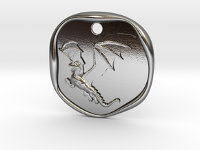 Dragon Wax Seal in Polished Silver