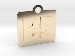 Be Positive Tag in 14k Gold Plated Brass