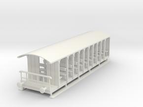 o-43-corringham-toastrack-coach in White Natural Versatile Plastic
