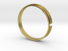 *Proto: 41mm watch case movement adapter in Natural Brass
