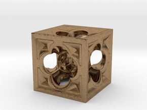 Fractal Menger Cube NH3 in Natural Brass
