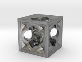 Fractal Menger Cube NH3 in Natural Silver