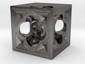 Fractal Menger Cube NH3 in Polished Nickel Steel