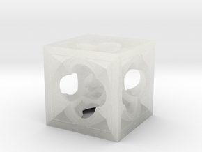 Fractal Menger Cube NH3 in Smooth Fine Detail Plastic